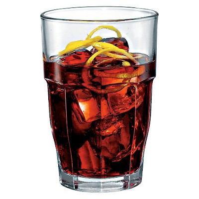 Bormioli Rocco Rock Bar Stackable Long Drink Glass 12.5oz Set of 6