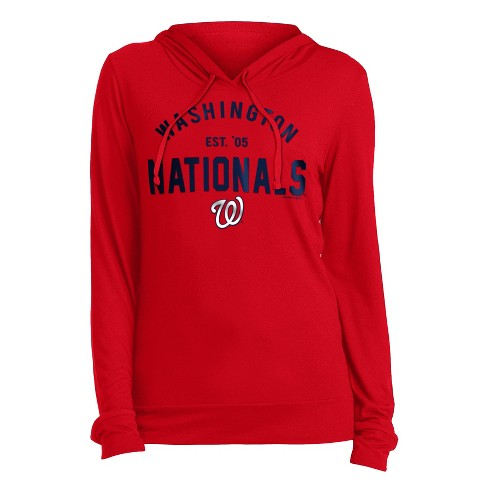pretty nice 185dc c04cf MLB Washington Nationals Women's Pullover Midweight Hoodie - S