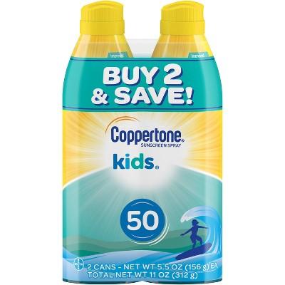 Coppertone Kids Sunscreen Spray - SPF 50 - 11oz - Twin Pack