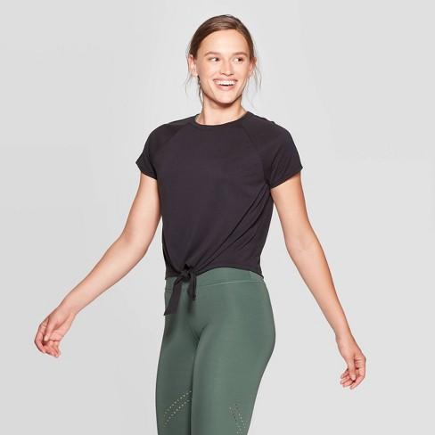 Women's Tie Front T-Shirt - JoyLab™ - image 1 of 2