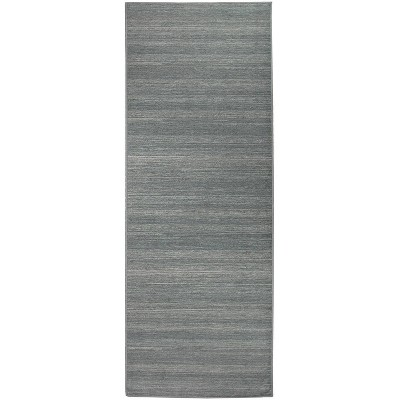 "2'5""x7' Runner Solid Textured Rug Gray - Ruggable"