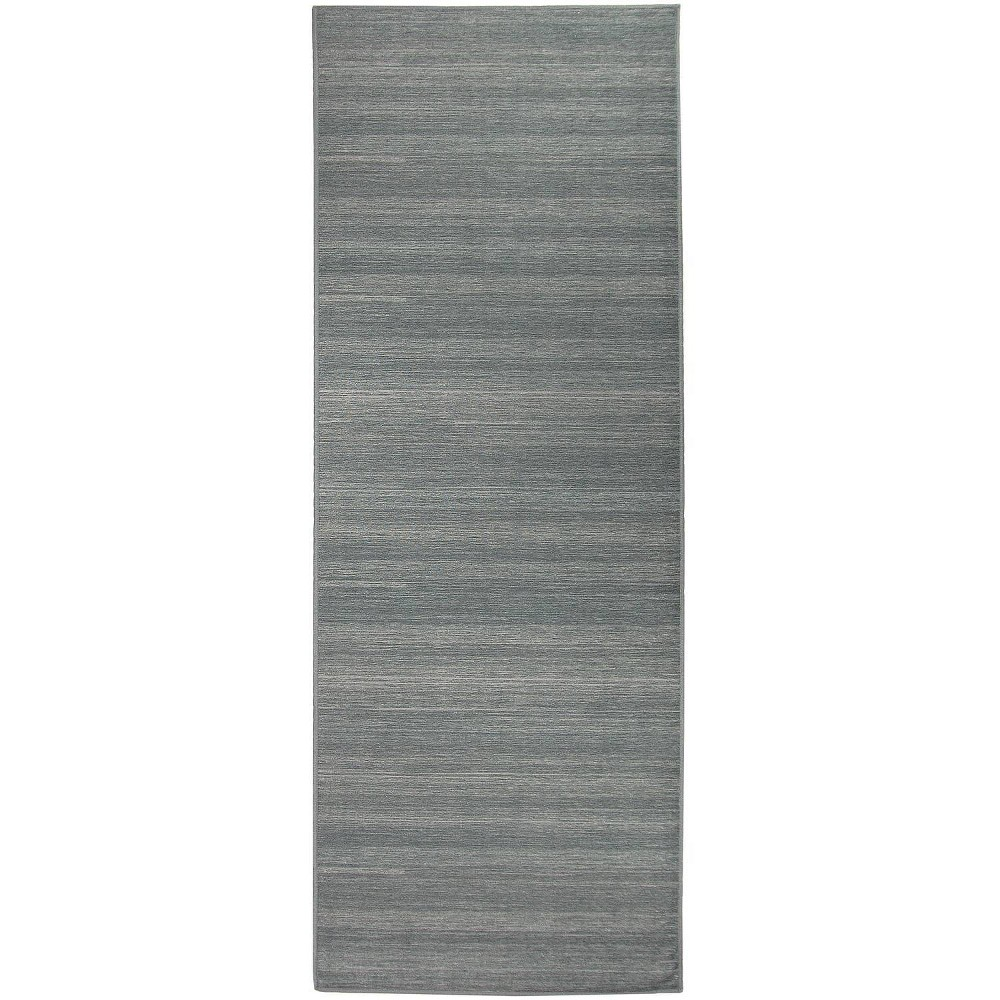 "Image of ""2'5""""x7' Runner Solid Textured Rug Gray - Ruggable, Size: 2'5""""x7'"""