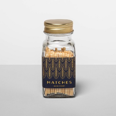 80ct Safety Matches in Glass Jar - Opalhouse™