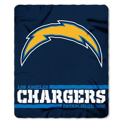 The Northwest Company Los Angeles Chargers Fleece Throw , Blue