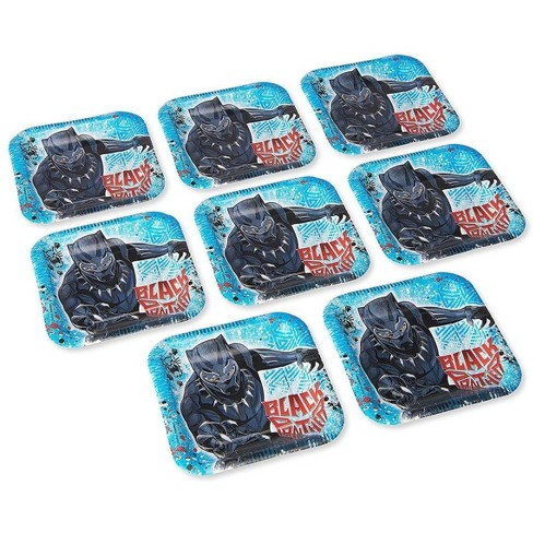"""Amscan Marvel Black Panther 7"""" Square Paper Party Plates, 8-Pack - image 1 of 1"""