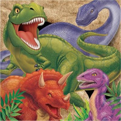 48ct Dinosaur Print Disposable Napkins