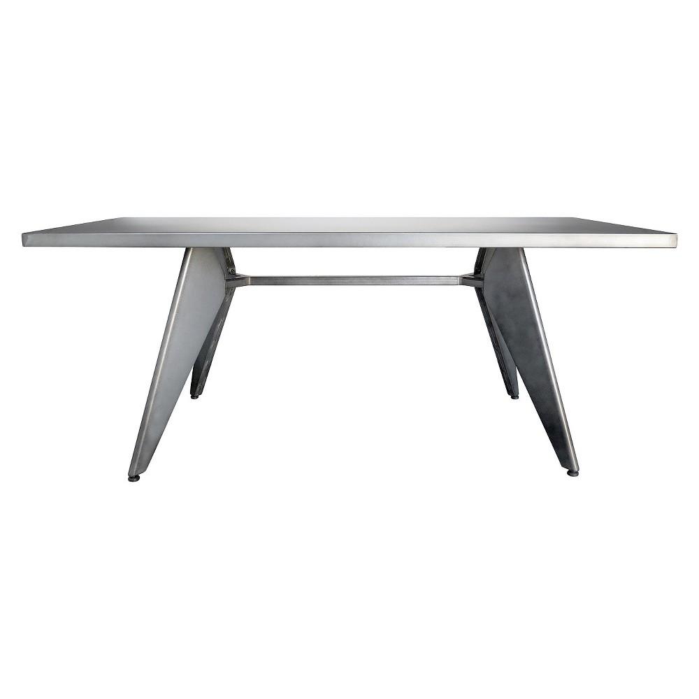 Rex-2 58 Dining Table - Aeon, Silver