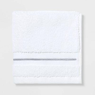 Spa Washcloth Light Gray Stripe - Threshold Signature™