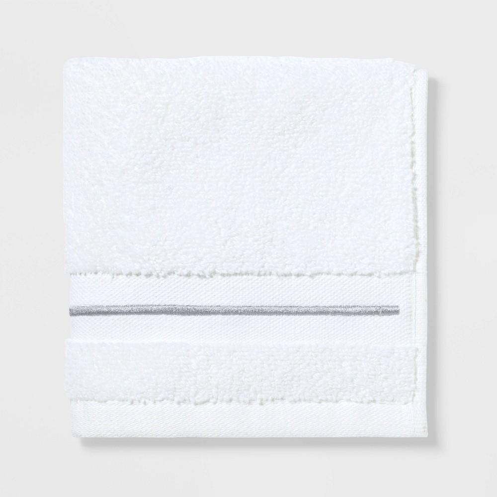 Spa Washcloth Light Gray Stripe - Threshold Signature Price