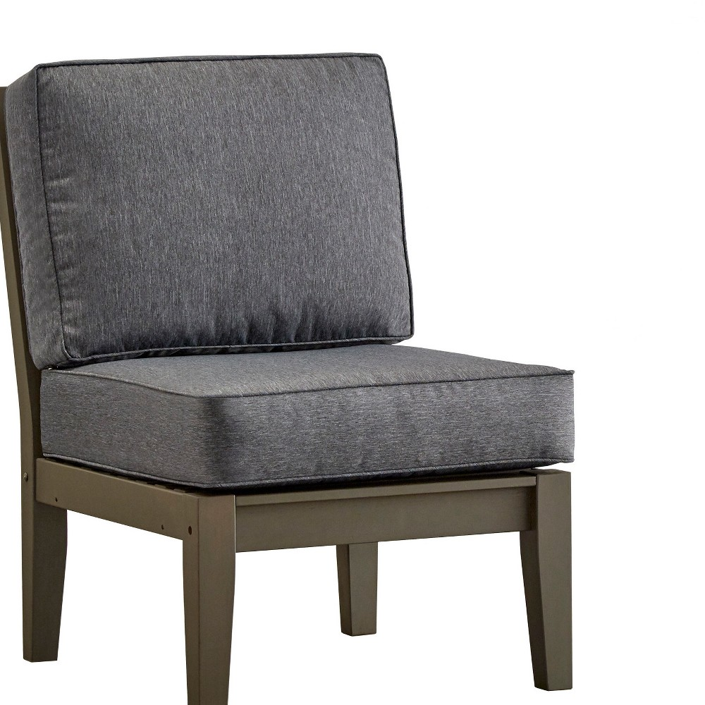 Parkview Wood Patio Chair with Cushions - Gray/Gray - Inspire Q