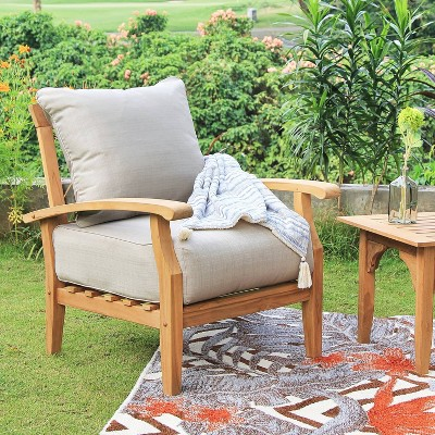 Caterina Teak Lounge Chair with Cushion - Cambridge Casual