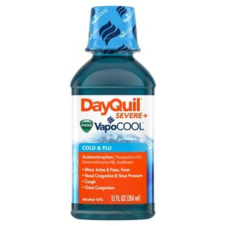 DayQuil Severe with Vicks Vapocool Cold & Flu Relief Liquid - Acetaminophen - 12 fl oz