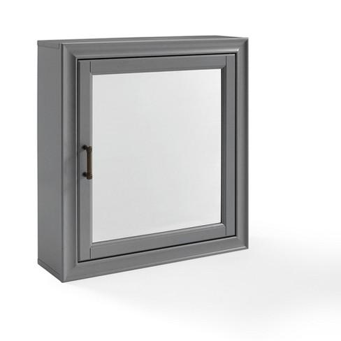 Tara Bath Mirror Decorative Wall Cabinet Single Door Crosley Target
