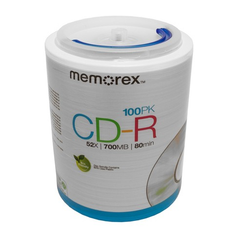 Memorex CD-R Spindle Disc Pack - 100 PK - image 1 of 1