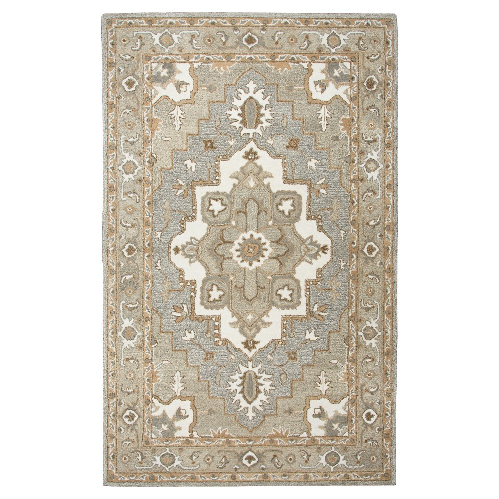 Image of Oriental Medallion Rug - Gray - (8'X10') - Rizzy Home