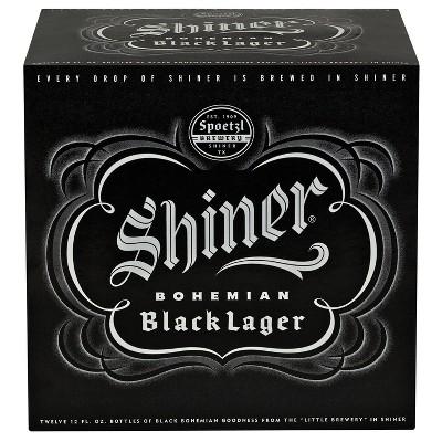 Shiner Bohemian Black Lager Beer - 12pk/12 fl oz Bottles