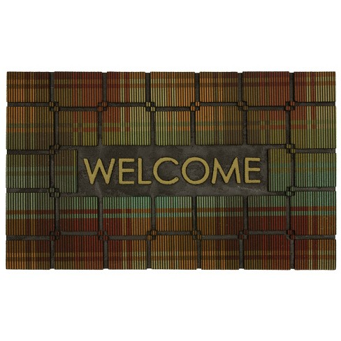 "18""X30"" Welcome Plaid Rubber Doormat - Mohawk - image 1 of 4"