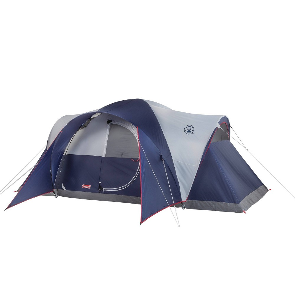 Image of Coleman Elite Montana 8-Person Lighted Tent - Blue/Gray