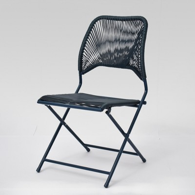 Fisher Folding Patio Chair Blue - Project 62™