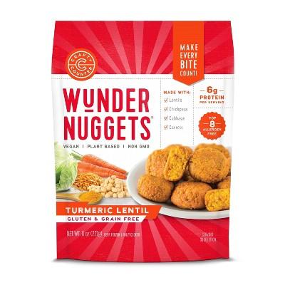 Crafty Counter Gluten Free Frozen Tumeric Lentil Wunder Nuggets - 8oz
