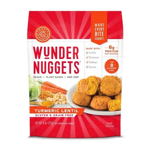 Crafty Counter Gluten Free Frozen Tumeric Lentil Wunder Nuggets - 8oz - image 1 of 4