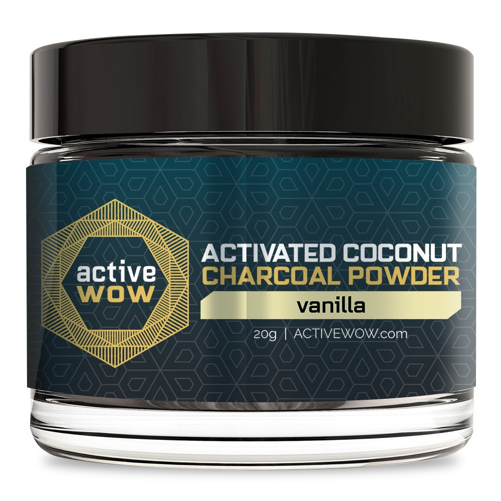 Active Wow Vanilla Charcoal Tooth Powder - 20g