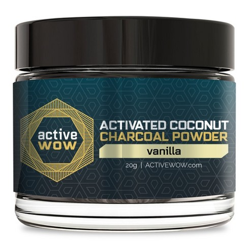 Active Wow Vanilla Charcoal Tooth Powder - 20g - image 1 of 1