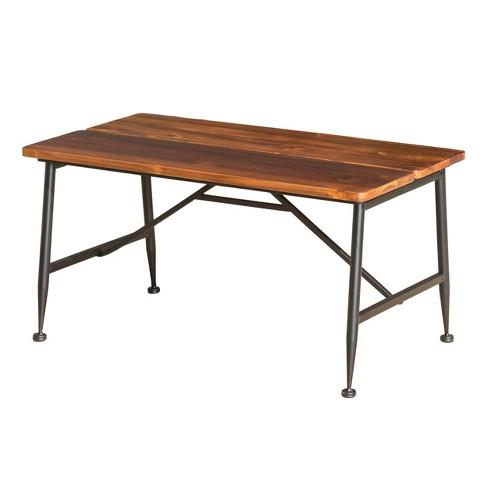 Tremendous Ocala Acacia Industrial Coffee Table Antique Black Christopher Knight Home Creativecarmelina Interior Chair Design Creativecarmelinacom