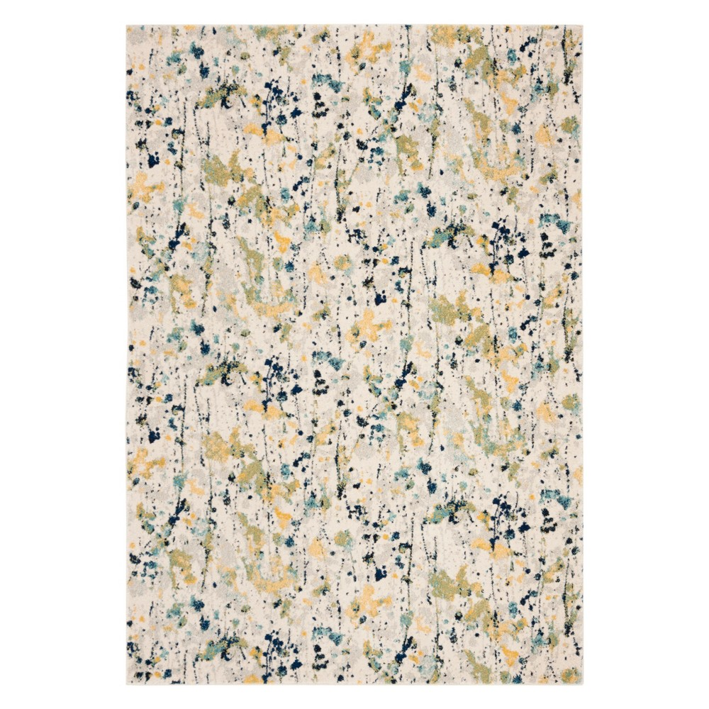 51X76 Splatter Loomed Area Rug Ivory/Yellow - Safavieh Discounts