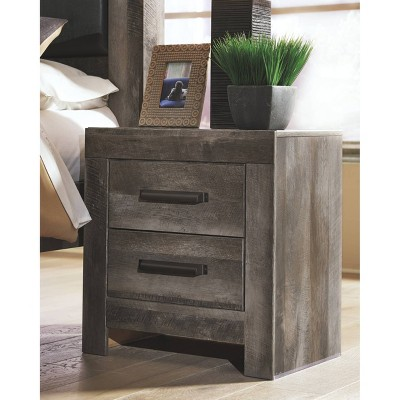 Wynnlow Two Drawer Nightstand Gray - Signature Design by Ashley