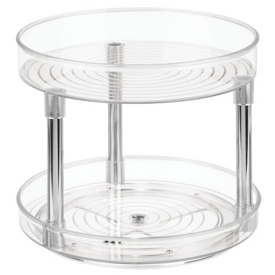 mDesign 2 Level Food Storage Lazy Susan Turntable