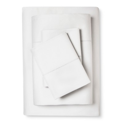 Supima Classic Hemstitch Sheet Set (King)Silver Springs 700 Thread Count - Fieldcrest™