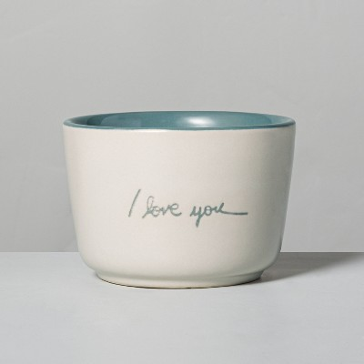 6.77oz Meadow 'I Love You' Ceramic Candle - Hearth & Hand™ with Magnolia