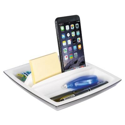 Kantek Desk Top Organizer and Tablet/Phone Holder Plastic 8 1/4 x 8 1/4 x 2 3/4 ORG490