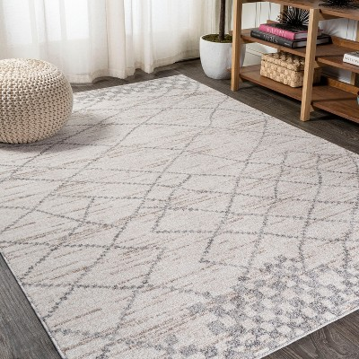 3'x5' Rectangle Loomed Trellis Area Rug Gray - JONATHAN  Y