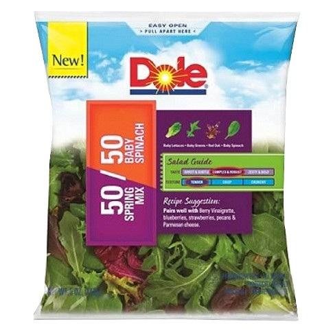 Dole Fresh 50/50 Spring Mix & Baby Spinach Blend - 5oz - image 1 of 3