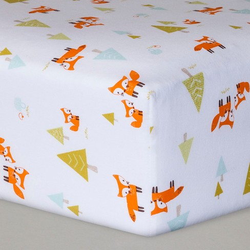 Fitted Crib Sheet Woodland Trails - Cloud Island™  White - image 1 of 2