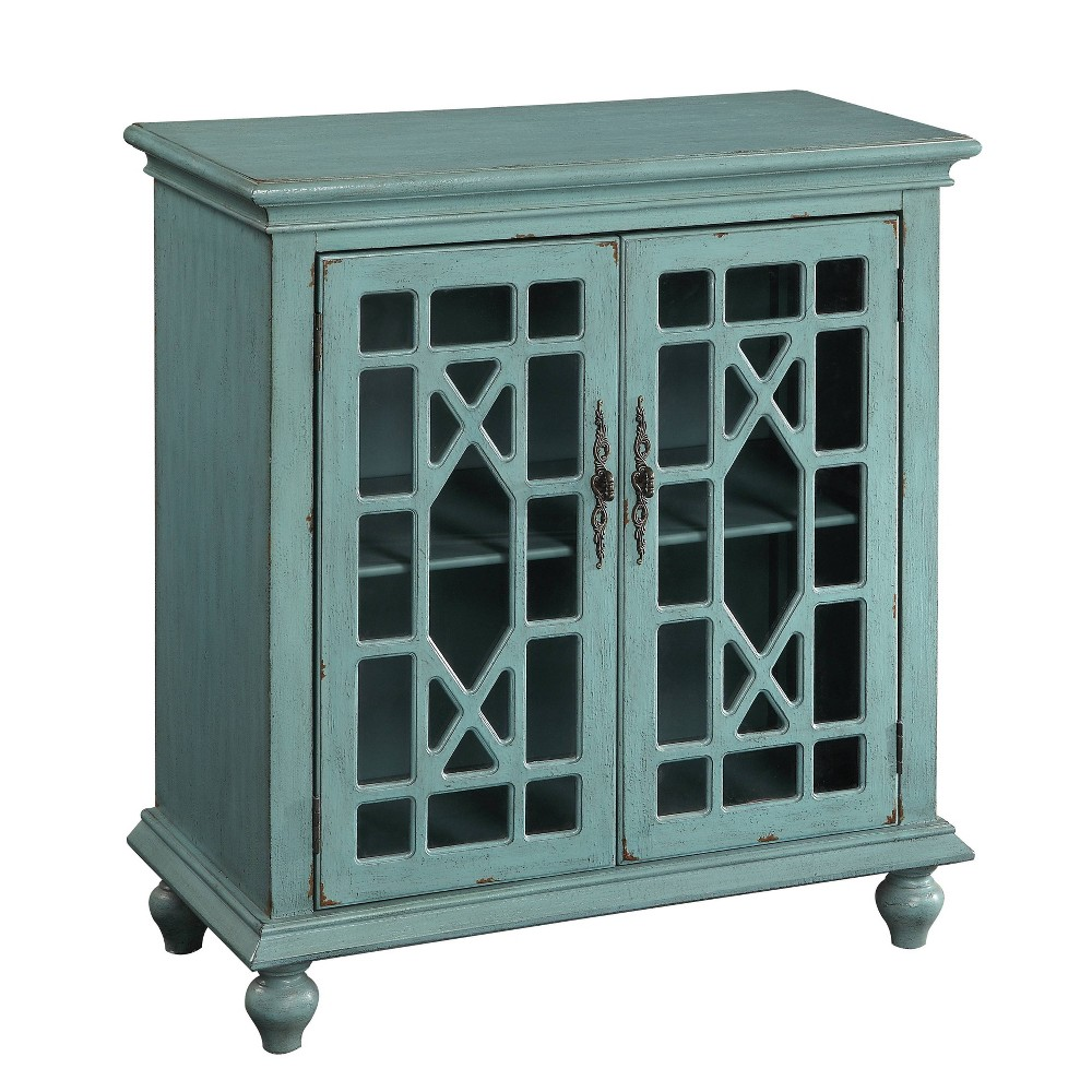 Chippendale 2 Door Cabinet Bayberry Blue Treasure Trove Accents
