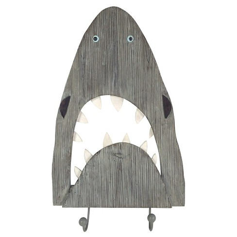 Shark Wall Decor with Hooks - Pillowfort™ - image 1 of 1