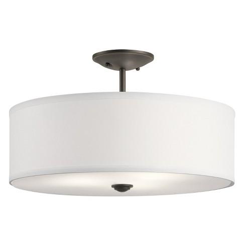 """Kichler 43692 Shailene 3 Light 18"""" Wide Semi-Flush Drum Ceiling Fixture - image 1 of 1"""
