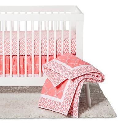 Trend Lab 3pc Crib Bedding Set - Shell