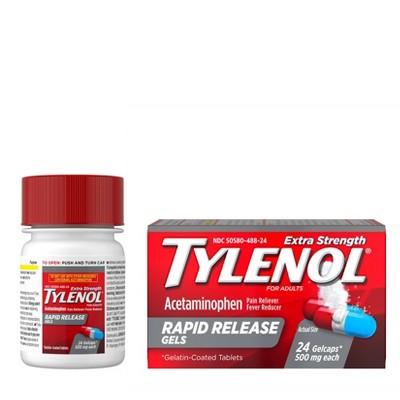 Pain Relievers: Tylenol Rapid Release