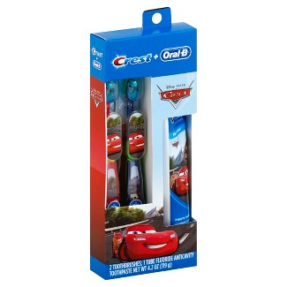 Crest + Oral-B Cars Toothcare Set - 2ct/4.2oz