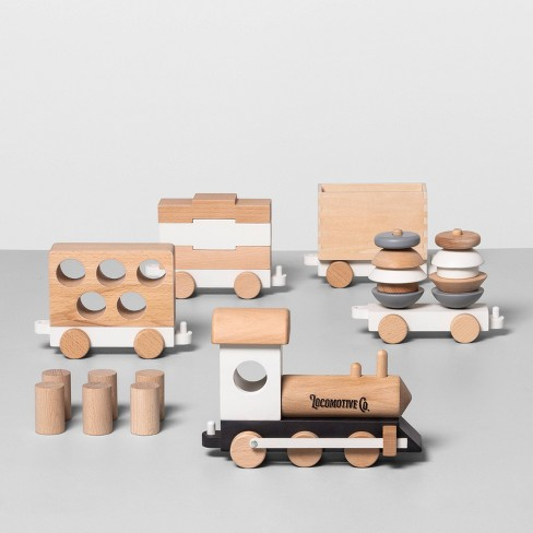 Wooden Toy Train Set - Hearth & Hand™ with Magnolia - image 1 of 3