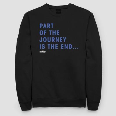 Women's Marvel Journey Ending Fleece Sweatshirt (Juniors') - Black