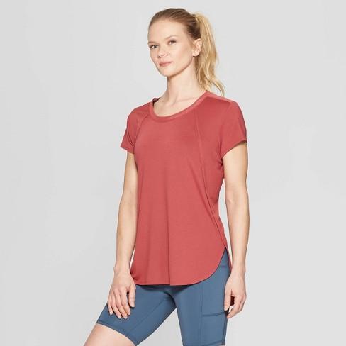 Women s Short Sleeve Power Mesh T-Shirt - C9 Champion® Brick Red S ... 4e65e37b76