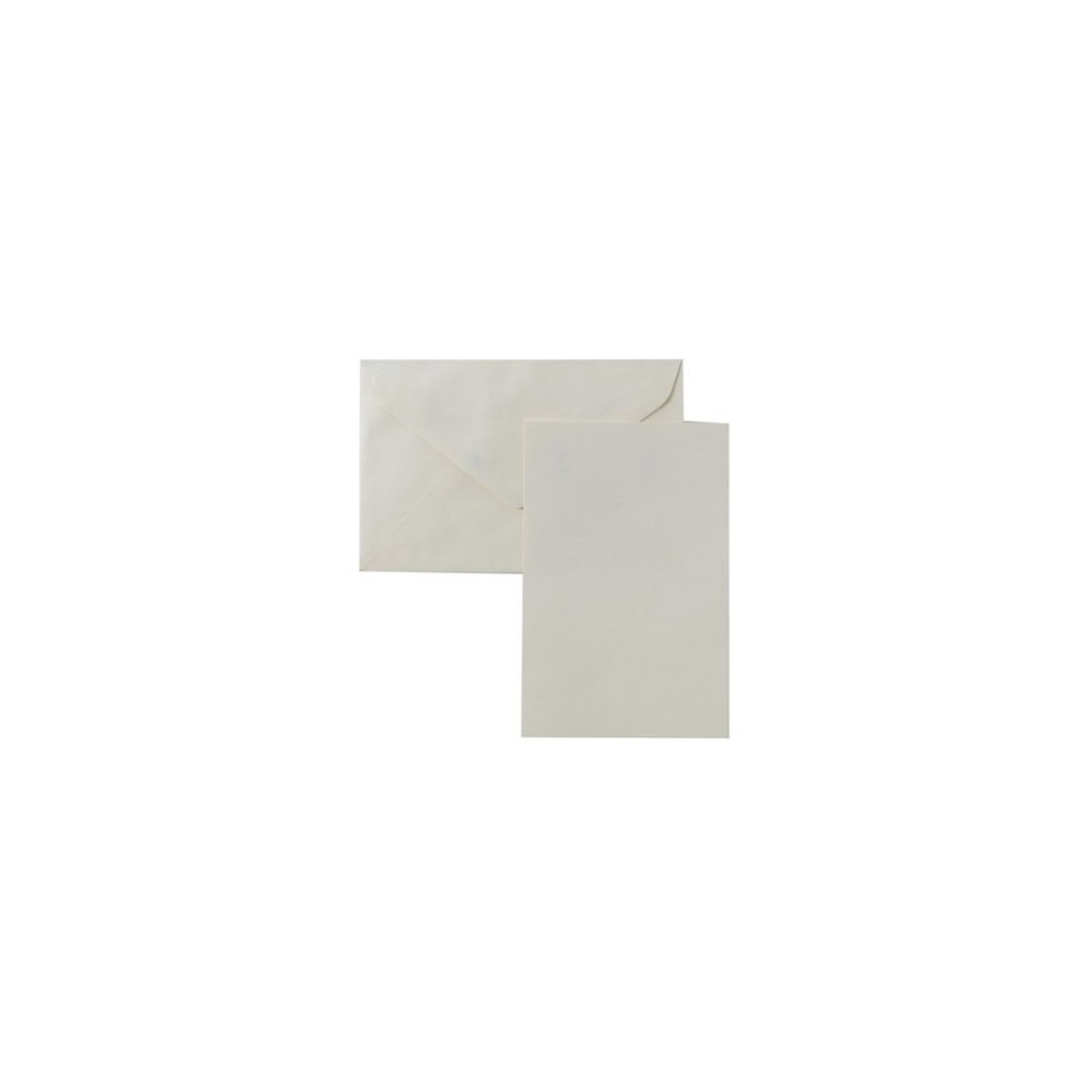 Image of Blank Note Cards with Envelopes (50ct) - Ivory