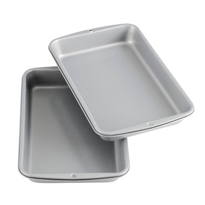 """Wilton 2pc 11""""x7"""" Recipe Right Non-Stick Biscuit and Brownie Pan Set"""