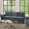 Willow Microfiber Sofa with Rolled Arms Dark Gray - Studio Living - image 4 of 4
