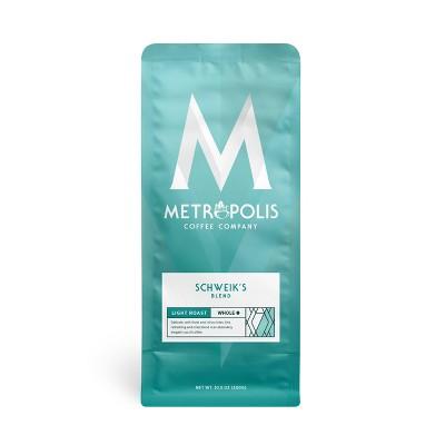 Metropolis Coffee Schweiks Blend Light Medium Roast Whole Bean Coffee - 10.5oz